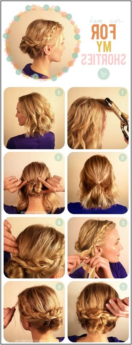 Einfache Frisuren für kurzes bis mittellanges Haar