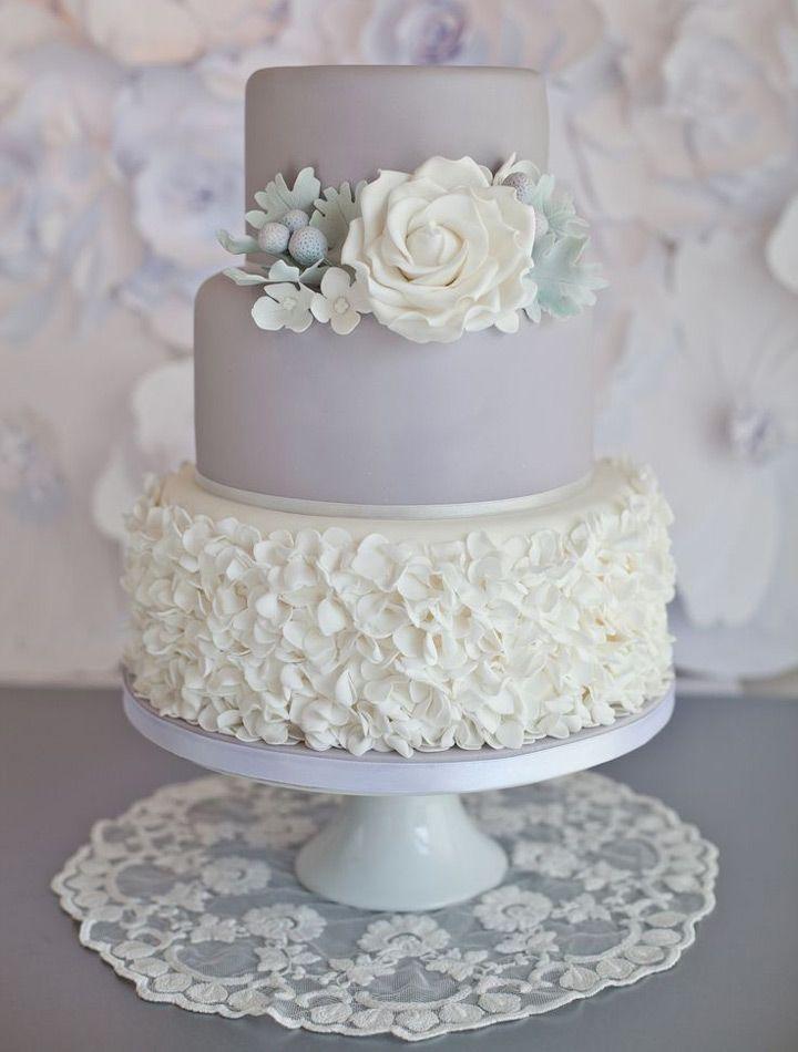 Glorious Gray Wedding Cakes for 2015 - Mon Cheri Bridals
