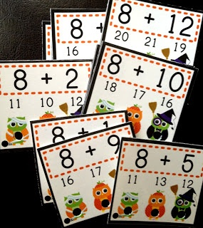 "FlapJack Educational Resources: H""OWL""oween Poke Math Games and FREEBIE"