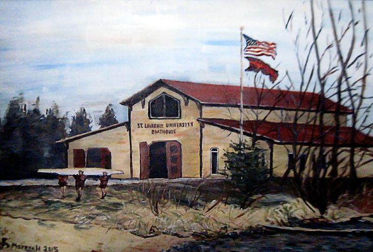 St. Lawrence Boathouse Painting by Denny Morreale