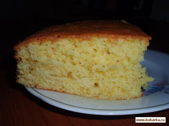 Рецепт: Апельсиновый бисквит