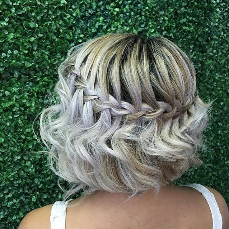 Pretty waterfall braid