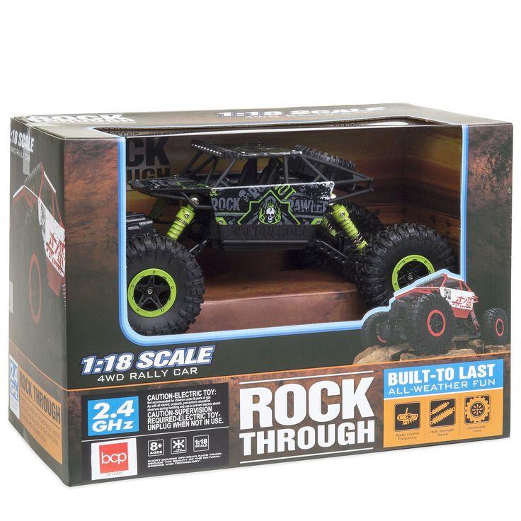 2.4 GHz 1/18 Rock Crawler Off-Road RC Car - Green/Black