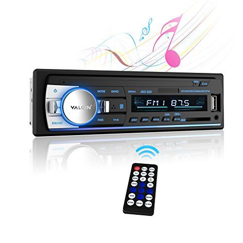 Car Stereo Receiver,Valoin Universal Single Din In-Dash Bluetooth Car Stereo USB SD MP3 FM Car Radio with Remote Control (Black 1). For product info go to:  https://www.caraccessoriesonlinemarket.com/car-stereo-receivervaloin-universal-single-din-in-dash-bluetooth-car-stereo-usb-sd-mp3-fm-car-radio-with-remote-control-black-1/