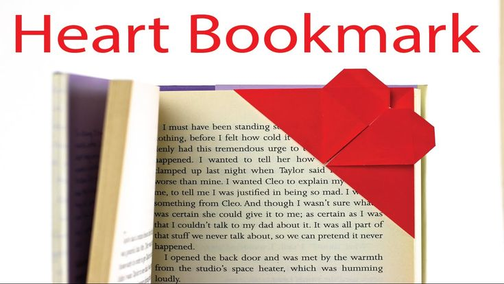 Origami Heart Corner Bookmark   Simple How-To