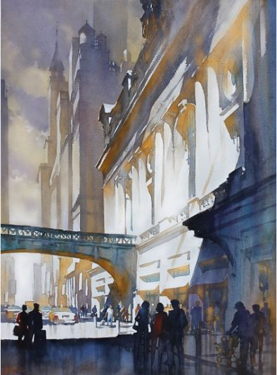Grand Central Light by Thomas W. Schaller - amazing watercolor skills!