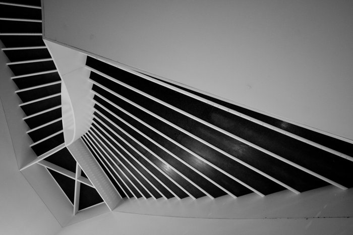 Stairs Museum of Contemporary Art, Chicago by Adam Mrugacz