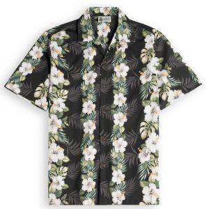 Hawaiianese Black Mens Hawiian Shirt 100% cotton