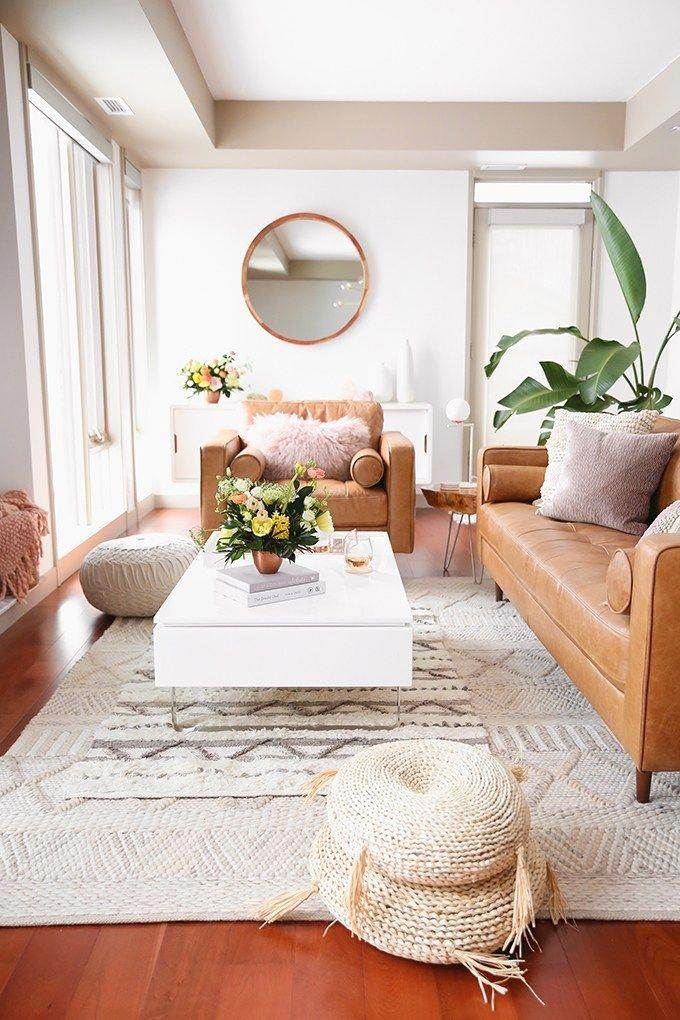 Our Living Room Furniture 250 Structube Giveaway A Bohemian Mid Century Modern Apartmen Dark Living Rooms Dark Furniture Living Room Living Room Designs