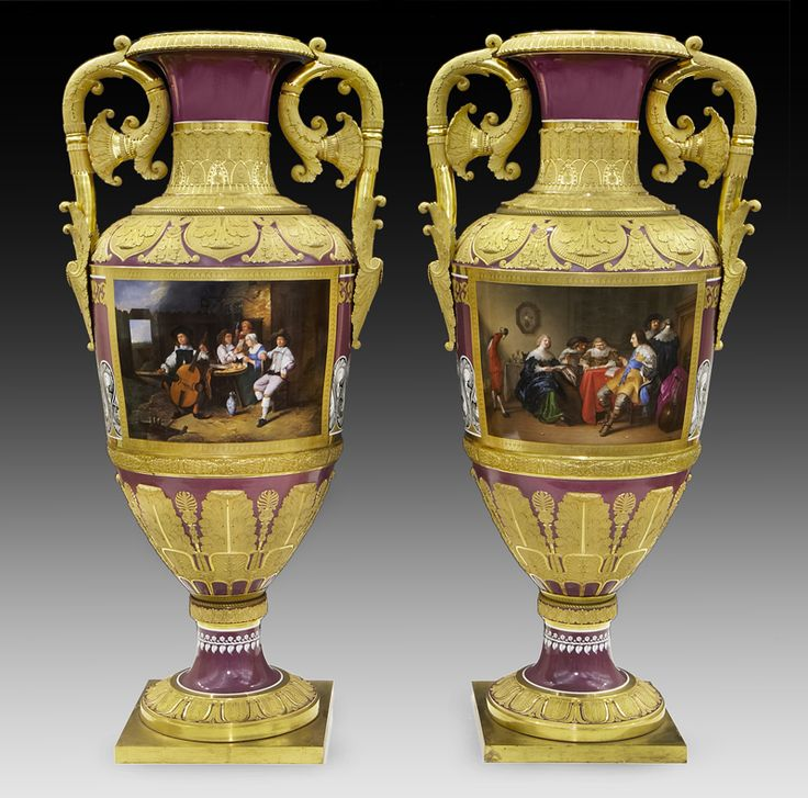 On April 17, the Dallas Auction Gallery in Texas will sell a pair of extremely rare and exquisite 19th century vases made by the Imperial Porcelain Factory for the Russian czar. Description from angelfire.com. I searched for this on bing.com/images