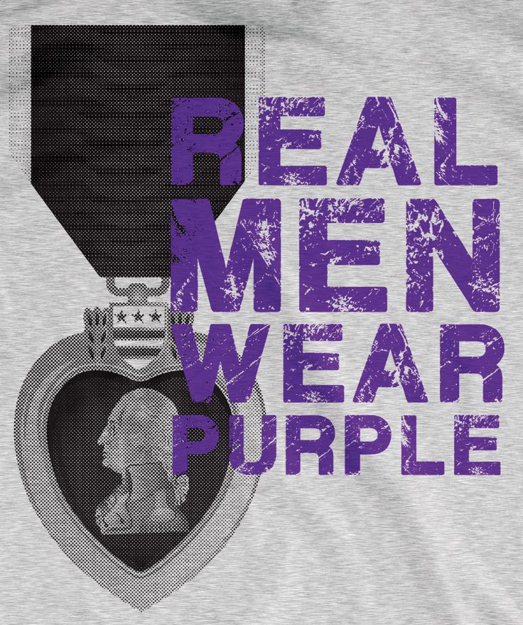Real Men Wear Purple T-Shirt | Medals of America. A bold design to honor Purple Heart Recipients.