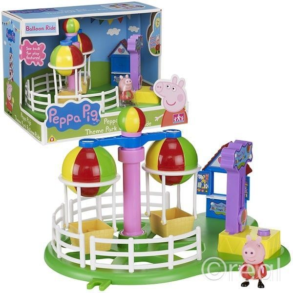 New Peppa Pig Theme Park Balloon Ride Deluxe Playset Toy Kids Gift Official #Character