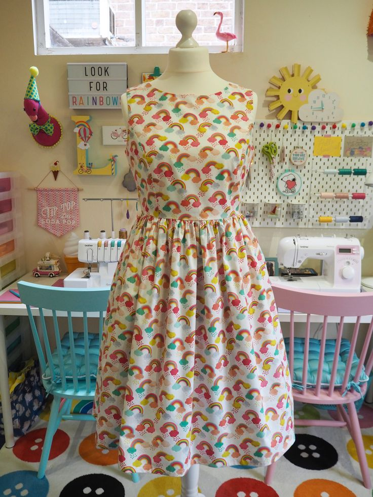 Made to Order Rainbow Dress - Ladies Handmade Dress