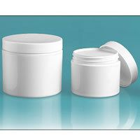 Buy white double wall jars from Bulk Apothecary today.  We are a stocking distributor of plastic jars, bottles, tubes, tins and more. Best Prices Guaranteed.