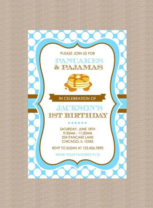 32 best pancakes and pajamas birthday party ideas images on pancakes and pajamas birthday party invitation boy by honeyprint filmwisefo