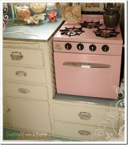 distressing, and definitely have to have a stove and counter with *character*.  Maybe a good b-day present.