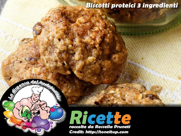 Biscotti proteici 3 ingredienti