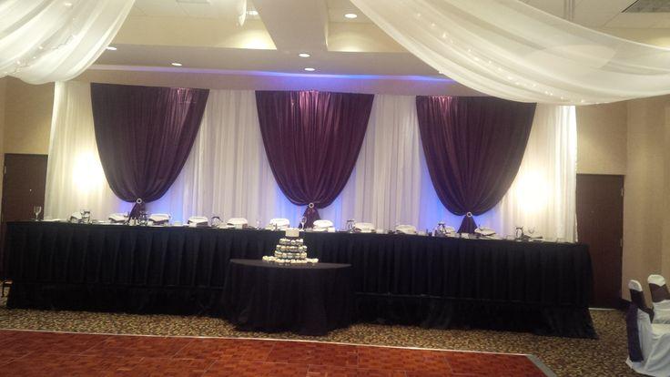 Waterloo Head Table - Black, White and Purple