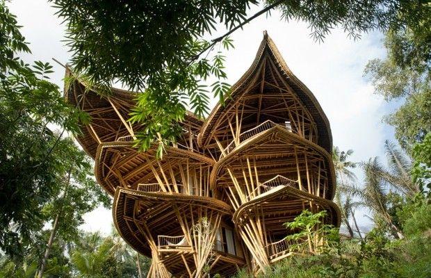 Empresa cria mansão de bambu de 750 metros quadrados (Foto: Divulgação) http://glo.bo/1wSha1N