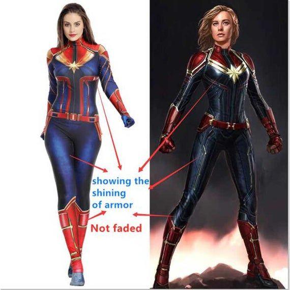 Captain Marvel Womens Adult Ms Marvel Superhero Costume Suit