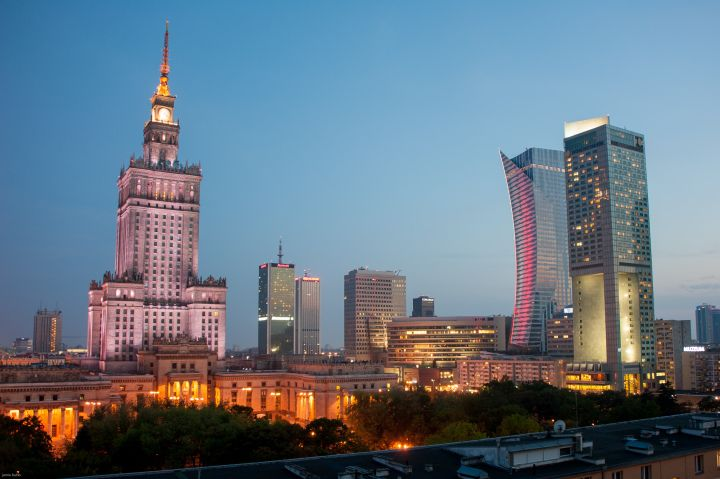 Warsaw Skyline #pkin Palace of Culture & Science