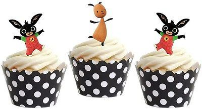 BING BUNNY edible cup cake toppers decorations *STAND UPS*