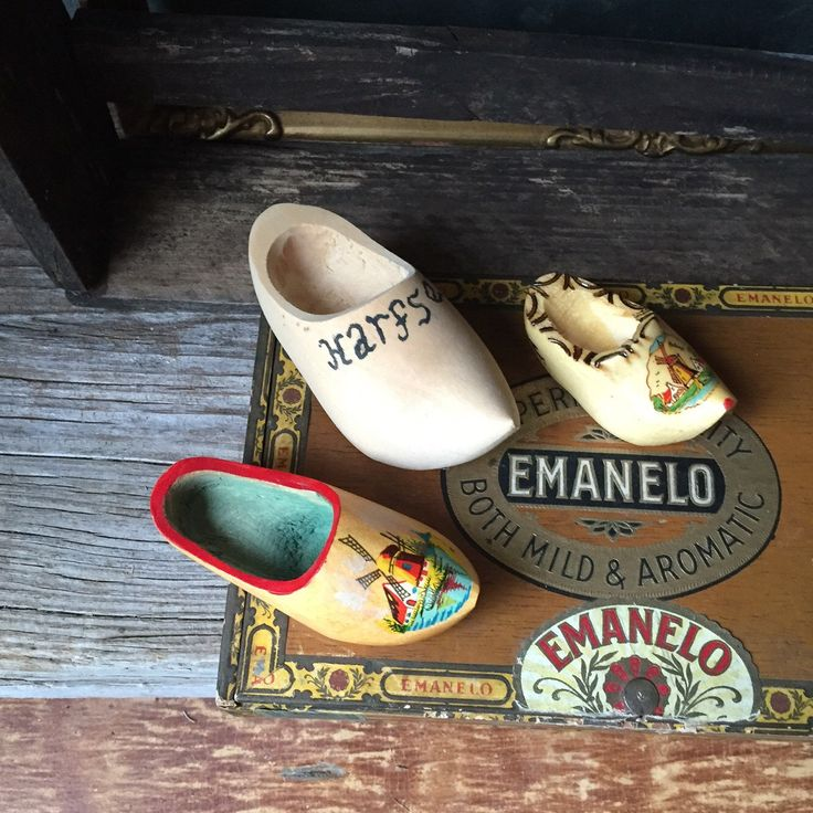 Set of 3 Wooden Shoes:  Vintage Dutch Wooden Shoes, Miniature Wooden Shoes Instant Collection, Souvenirs of Holland by Untried on Etsy