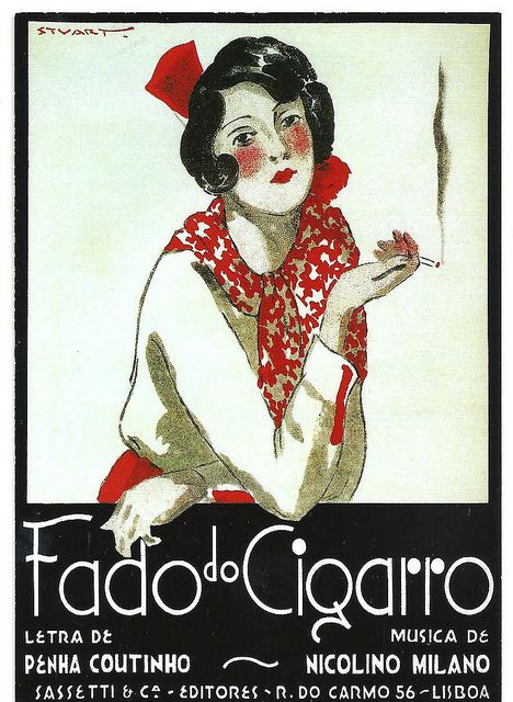 Stuart de Carvalhais, Fado do Cigarro, sheet music cover