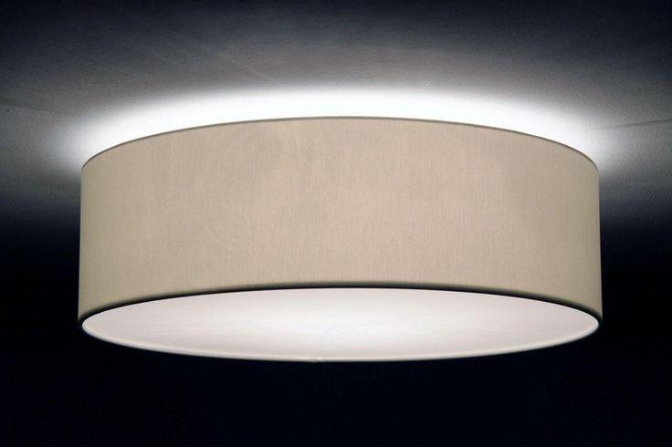 Deckenlampen - Deckenleuchte D.70 cm, H.20 cm, Lampenschirm Stoff - ein Designerstück von Leuchtenmanufaktur-Brodauf bei DaWanda