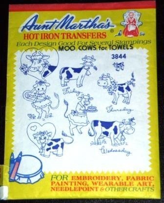 mooooo 've over for some vintage embroidery fun!  http://www.etsy.com/listing/36011627/destash-vintage-craft-supplies-moo-cows