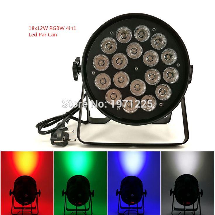 decoracion navidad led lamp Led Par Can Light Quad 18x12W RGBW Dmx Par Light DJ Equipment dj projector wash lighting  #Affiliate