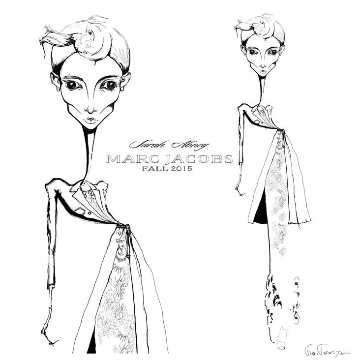 fashion illustration inspired by #marcjacobs, done by tio-torosyan