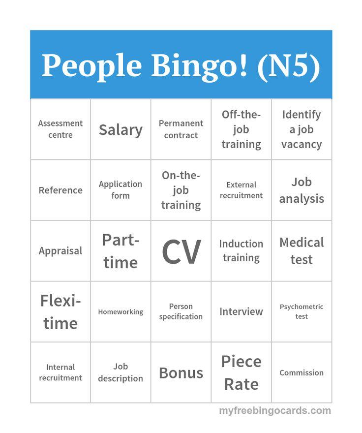 People Bingo! (N5)