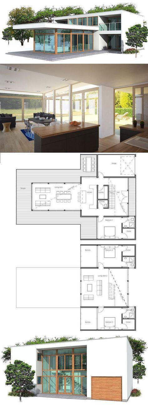 Modern House Plan Floor Plan from ConceptHomecom