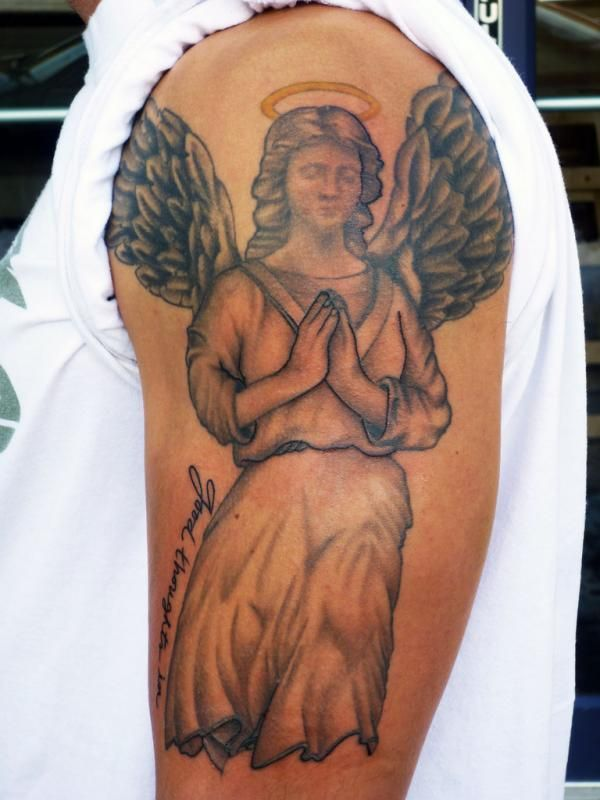 Angel tattoo meanings, designs and ideas with great images for 2017. Learn about the story of angel tats and symbolism.