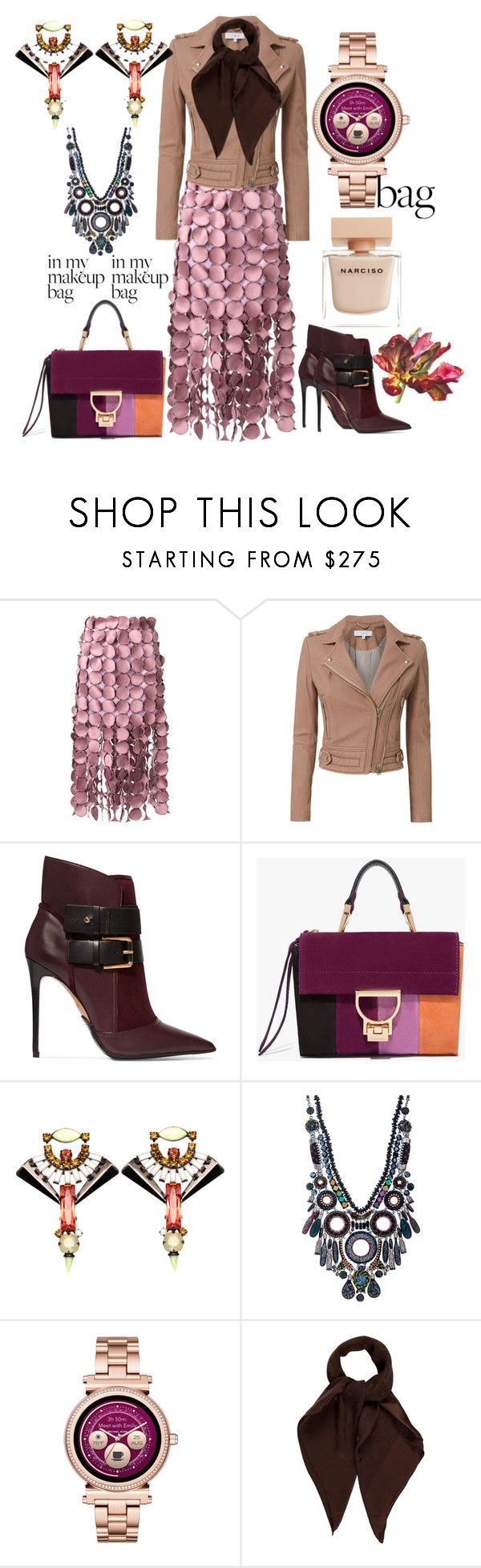 """""""MRS Violet!"""" by svrrvs ❤ liked on Polyvore featuring Loewe, IRO, Balmain, Ayala Bar, Michael Kors, Louis Vuitton and Narciso Rodriguez"""
