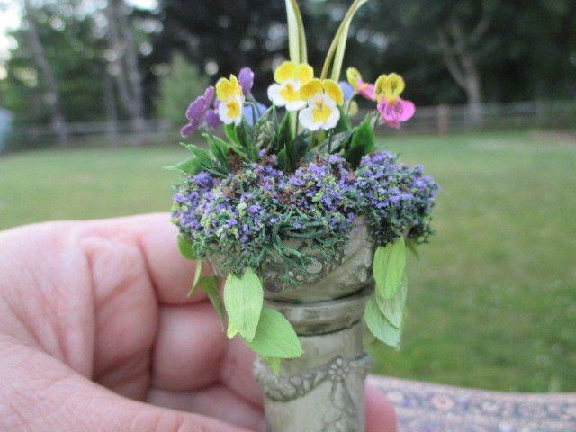 Judy Travis, Mini Creations by Judy, IGMA artisan - Victorian bird bath planter