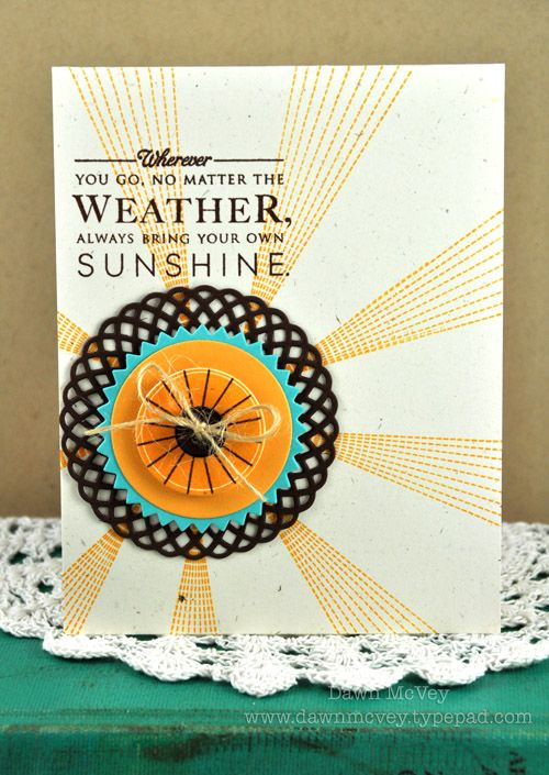 Bring Your Own Sunshine Card by Dawn McVey for Papertrey Ink (June 2012): Dawn Mcvey, Hello Sunshine, Handmade Cards, Papertrey Ink, Backgrounds Texts, Sunshine Cards, Pti Hello, Papertreyink, Ink June