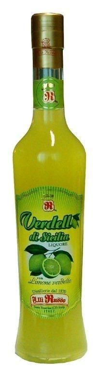 """Verdello di Sicilia Likőr 0,5L 30% - Ferger-Módos Bor- és Pálinkashop: Ez a zamatos likőr a különleges """"VERDELLO"""" citromból készül, amelynek egyedi karakterét a citrom erőteljes zöld íze és bódító illata adja.  Étkezések finom befejezéseként vagy akár különleges koktélok alapanyagának is ajánljuk.   A termék 2008-ban ezüstérmes lett a rangos nemzetközi Concours Mondial De Bruxelles versenyen."""