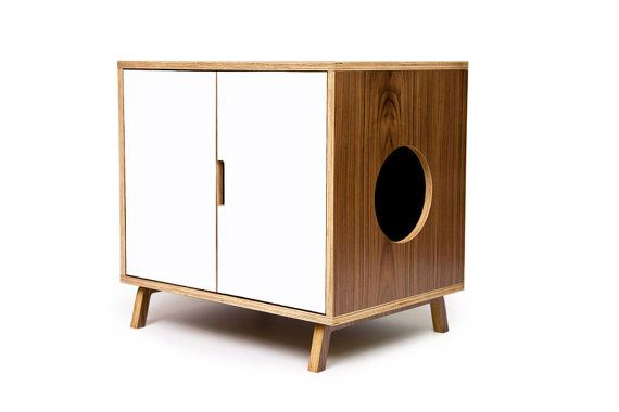Cat cabinet. Both useful and respectful of a room's design, unlike so many animal accessories.