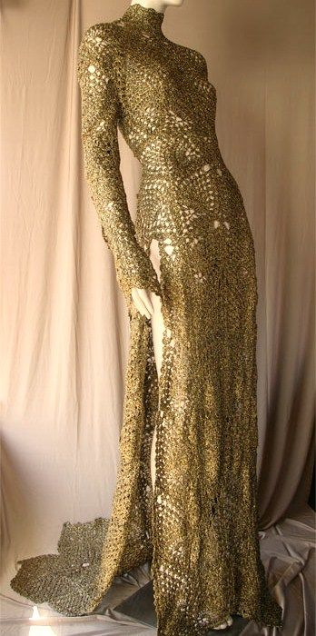 Crochet dress Andres Sarda, front no pattern just gorgeous