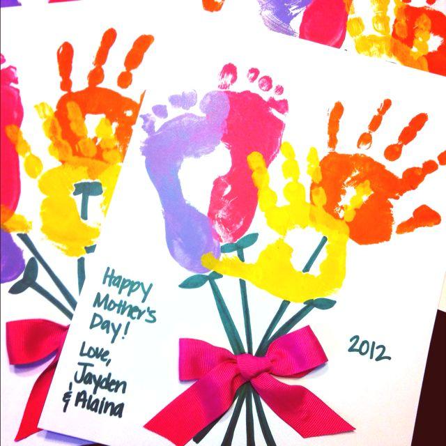 Mother's Day handprint footprint craft. Perfect for Grandma.