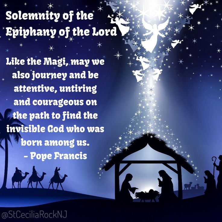 - Solemnity of the Epiphany of the Lord