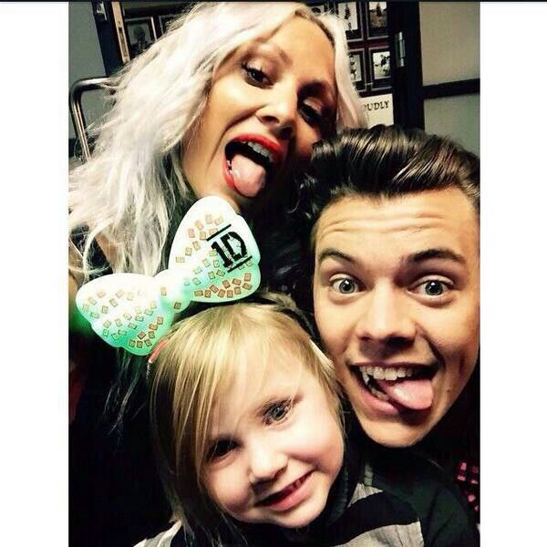 Harry Styles and Lux and Louise Teasdale
