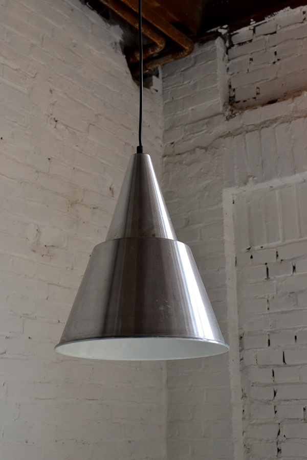 Anonymous; Aluminum Ceiling Light by Hala, 1960s.