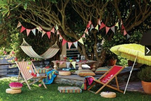 Boho Backyard Party : Garden parties, Bohemian and Garden furniture on Pinterest