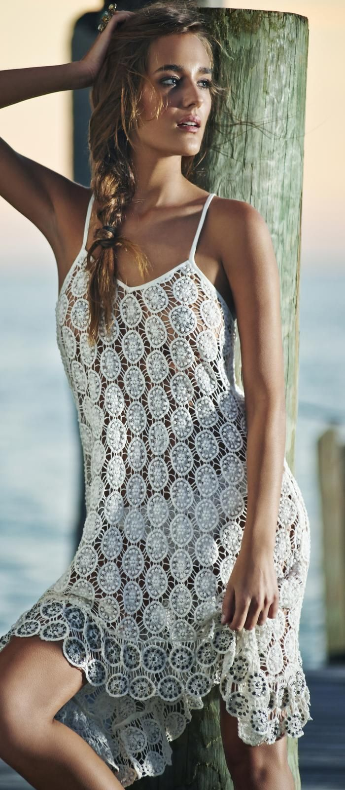#PilyQ 2015 Water Lilly Alyssa Beaded #Dress WAT-484D #southbeachswimsuits