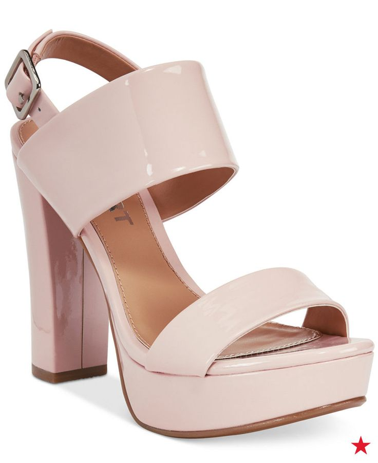 Sky-high sandals with a super stable block heel are perfect for a girls' - 1410 Best The Perfect Shoe Images On Pinterest