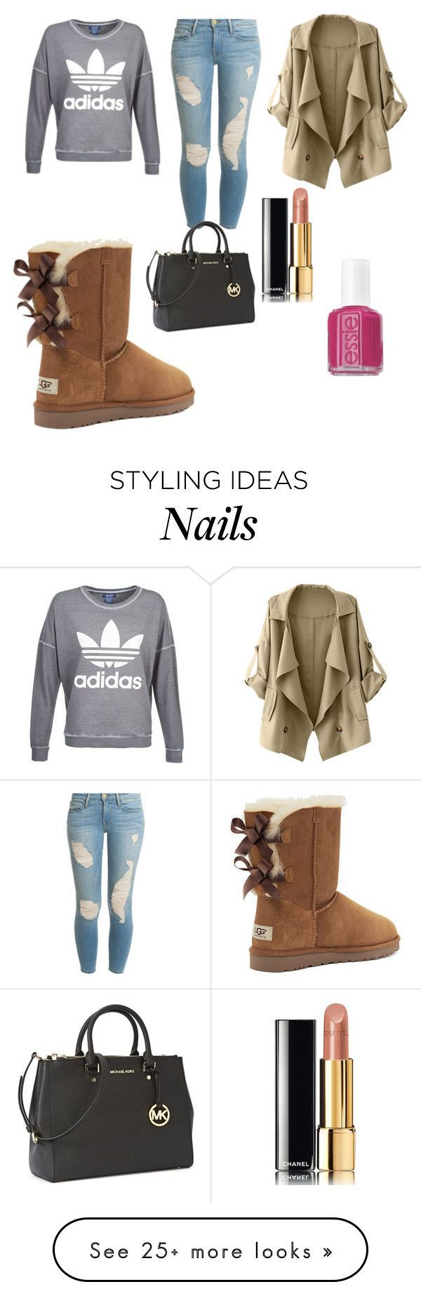 """""""UGG Boots"""" by vanessa-82 on Polyvore featuring Victoria's Secret, Frame Denim, adidas, Michael Kors, Chanel and Essie"""