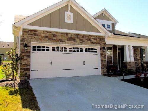 2 car carriage garage door with 2 sets of handles | Garage Door Upgrade